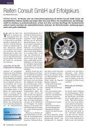Reifen Consult GmbH auf Erfolgskurs