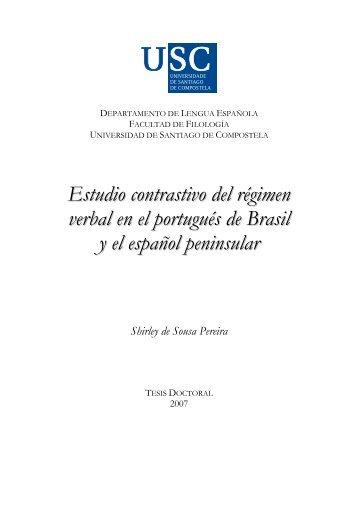 Estudio contrastivo del régimen verbal en el portugués de Brasil y el ...
