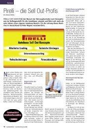 Pirelli – die Sell Out-Profis - Reifen Consult...