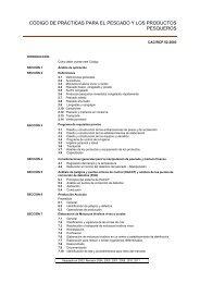 código de prácticas para el pescado y los productos pesqueros