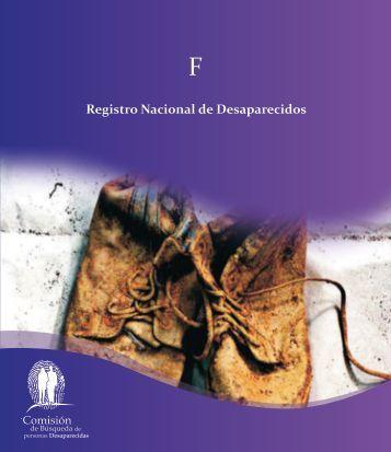 Registro Nacional de Desaparecidos - Comisión de Búsqueda