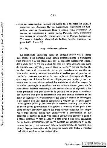 Juicio en León solicitado por el Alcalde mayor, Francisco de ...