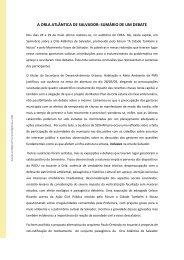 A ORLA ATLÂNTICA DE SALVADOR: SUMÁRIO ... - ORDEP SERRA