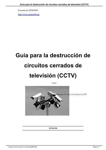 Guía para la destrucción de circuitos cerrados de ... - Zemos98