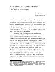 el cantabrico y el espacio económico atlántico en el siglo xvi.