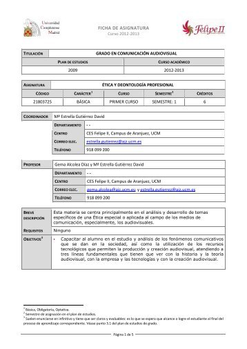 Ética y deontología profesional - CES Felipe II