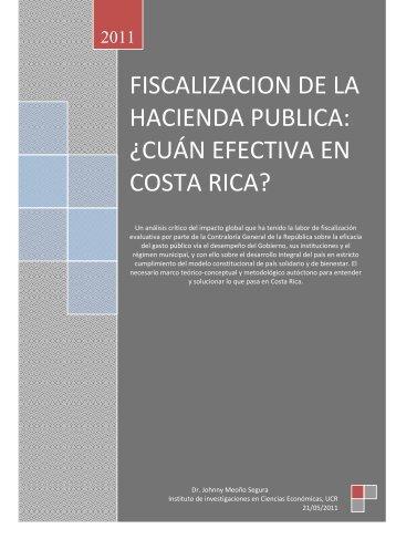 fiscalizacion de la hacienda publica: ¿cuán efectiva en costa rica?