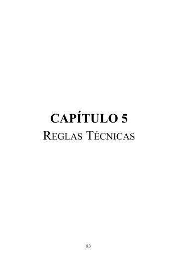 Descargar Capítulo 5: Reglas Técnicas - RFEA.es
