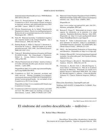 El síndrome del cerebro descalificado - Academia Nacional de ...