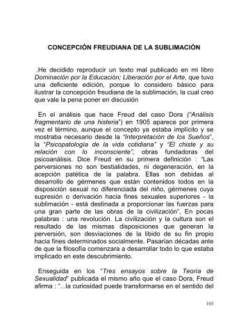 CONCEPCIÓN FREUDIANA DE LA SUBLIMACIÓN - AmaWebs