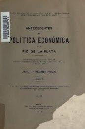 Antecedentes de política económica en el Río de la Plata ...