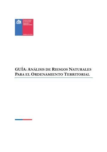 guía: análisis de riesgos naturales para el ordenamiento territorial