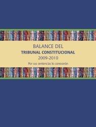 Balance del Tribunal Constitucional 2009-2010 - Justicia Viva