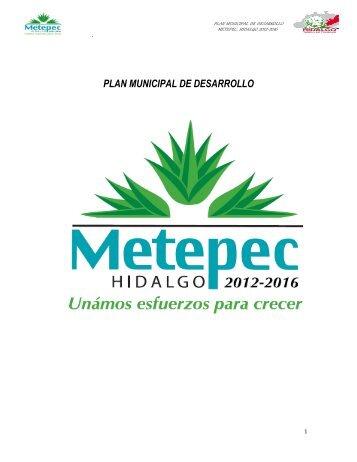 PLAN MUNICIPAL DE DESARROLLO - Portal Tributario Estatal