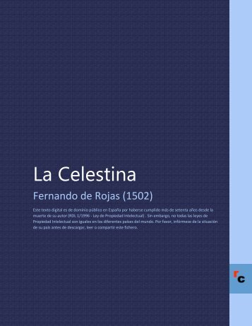 La Celestina - Descarga Ebooks
