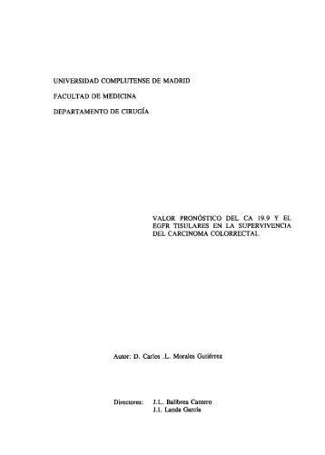 cancer de colon - Biblioteca de la Universidad Complutense ...