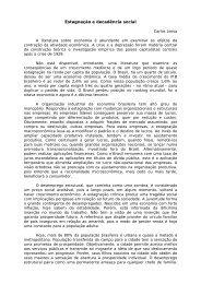 Estagnação e decadência social - Instituto de Economia da UFRJ