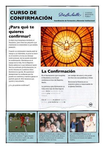 La Confirmación - Colegio Benavente de Puebla