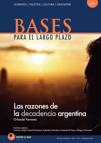 Las razones de la decadencia argentina - Bases para el Largo Plazo