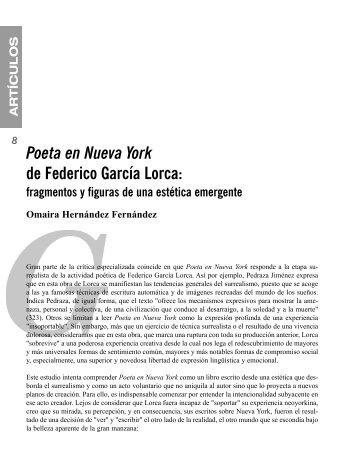 Poeta en Nueva York de Federico García Lorca: fragmentos y ...