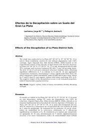 Efectos de la Decapitación sobre un Suelo del Gran La Plata