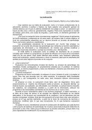 La evaluación. Daniel Cassany, Marta Luna y Glória Sanz