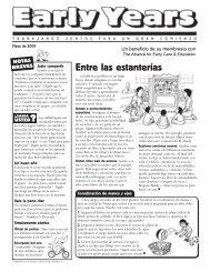 Entre las estanterías - Alliance for Early Care & Education