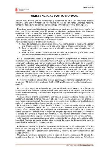 ASISTENCIA AL PARTO NORMAL - Navarra