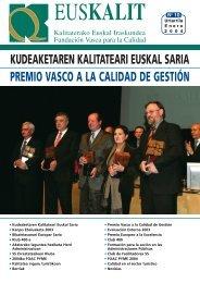 premio vasco a la calidad de gestión - Euskalit