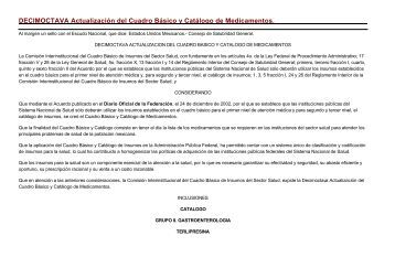 CUADRO Básico y Catálogo de Material de Curación.