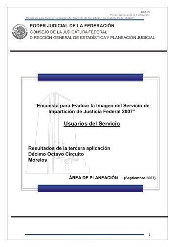 Decimoctavo Circuito (Morelos) - Dirección General de Estadística ...