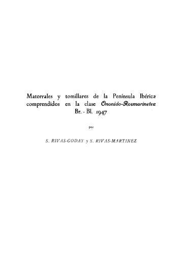 Matorrales y tomillares de la Península Ibérica comprendidos en la ...