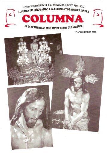 Revista 47 - WEB OFICIAL Cofradia LA COLUMNA · Zaragoza