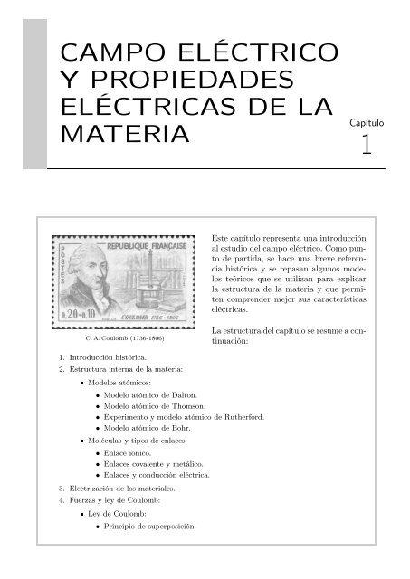 Campo Eléctrico Y Propiedades Eléctricas De La Materia Novella