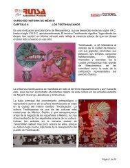 RUNSA // CULTURAL CURSO DE HISTORIA DE MÉXICO ...