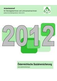 Arbeitsbehelf 2012 - Österreichische Sozialversicherung