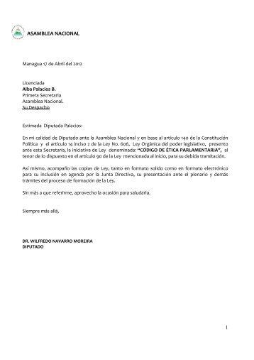 CODIGO DE ETICA PARLAMENTARIA.