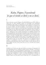 Kuhn, Popper, Feyerabend: lo que el viento se llevó y no se llevó.
