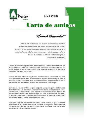 Carta de Amigos en formato pdf - Fraternidad Cristiana de Enfermos ...