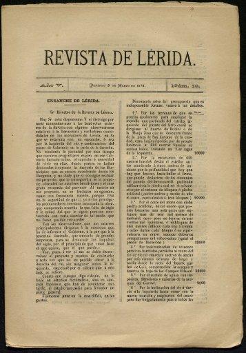 REVISTA DE LERIDA. - Fons Sol - Torres