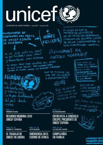 Revista 212 de UNICEF España - Humania.tv