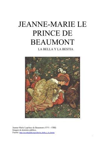 JEANNE-MARIE LE PRINCE DE BEAUMONT - Integrar