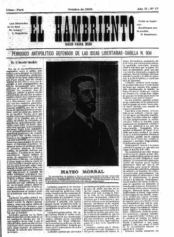 El Hambriento – 1906 – Nº17 - Materiales FOPEP