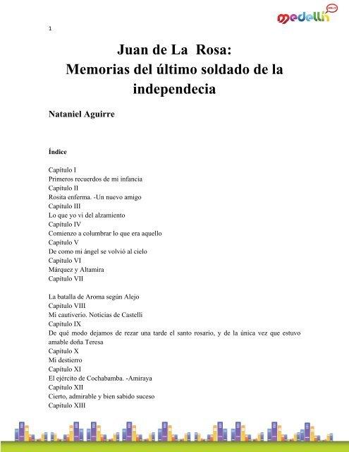 Aguirre_Nataniel-Juan De La Rosa Memorias Del Ultimo Soldado pdf