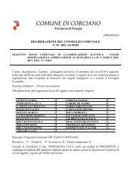 COMUNE DI CORCIANO - ARPA Umbria