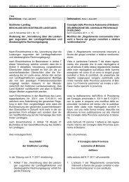 Südtiroler Landtag Consiglio della Provincia Autonoma di Bolzano ...