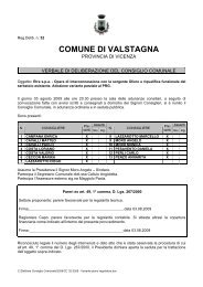 Variante piano regolatore - Comune di Valstagna