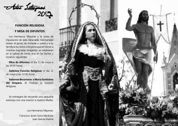 Actos Litúrgicos 2013 - Venerable Hermandad de Nuestro Señor ...