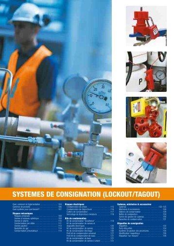 SYSTEMES DE CONSIGNATION (LOCKOUT/TAGOUT) - Etilux