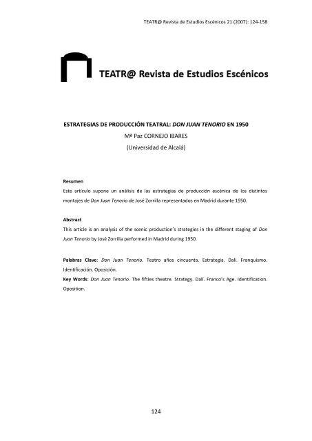 Descargar Artículo En Pdf Teatro Revista De Estudios
